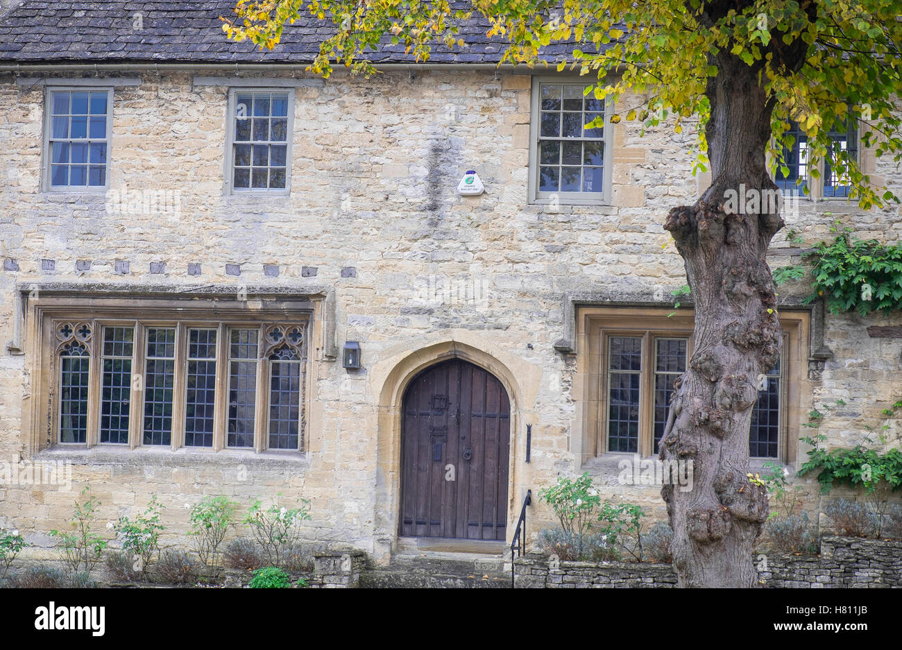beautiful scenic village of Burford in Cotswold,England - Stock Image