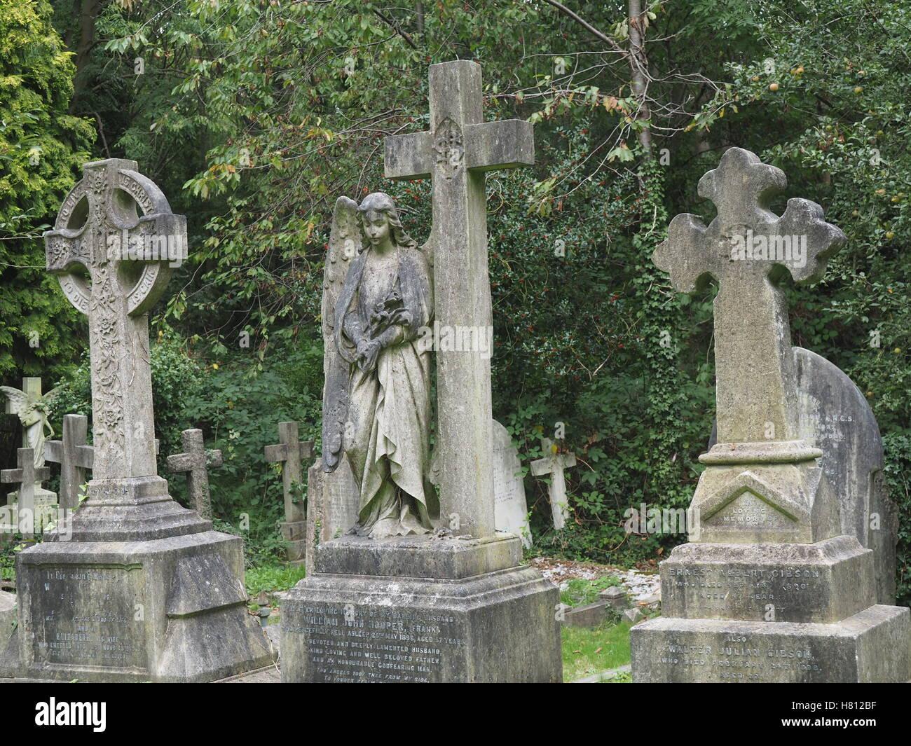Highgate Cemetery, London - Stock Image