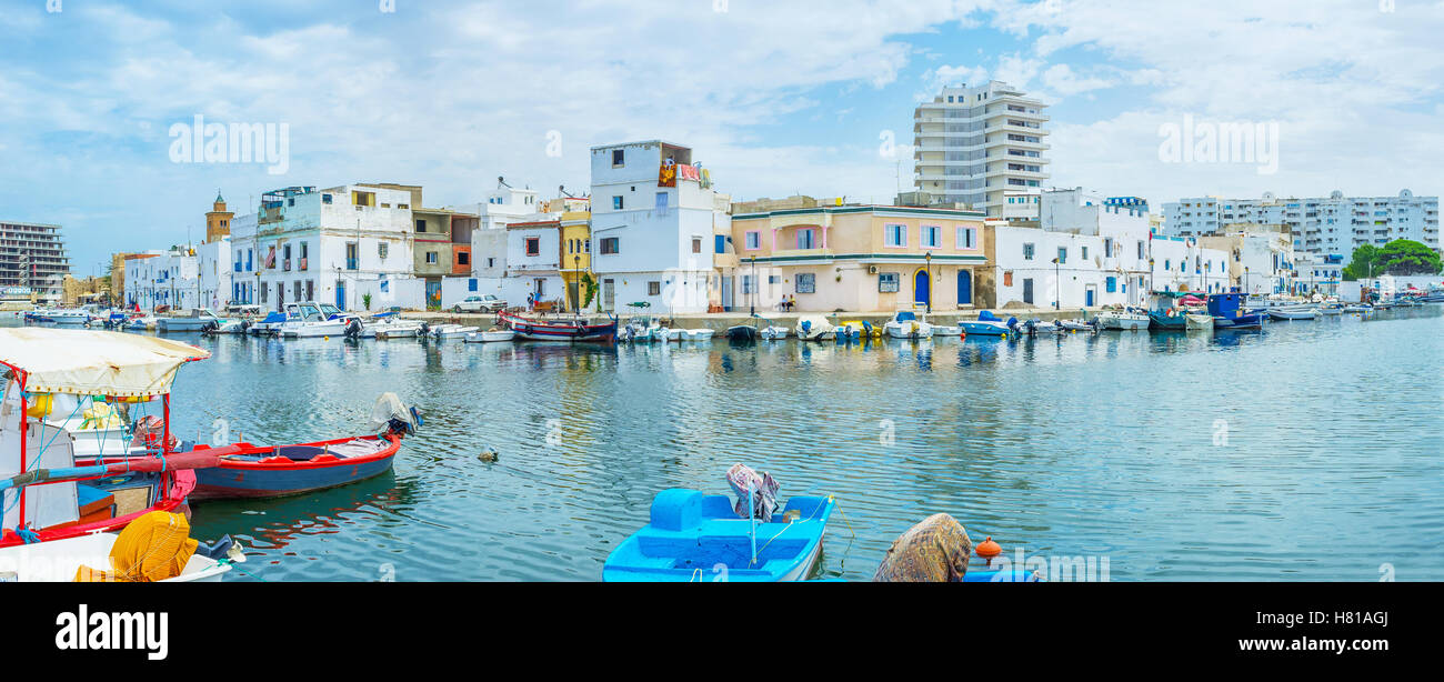The old port looks like other Mediterranean ports in European towns - Stock Image