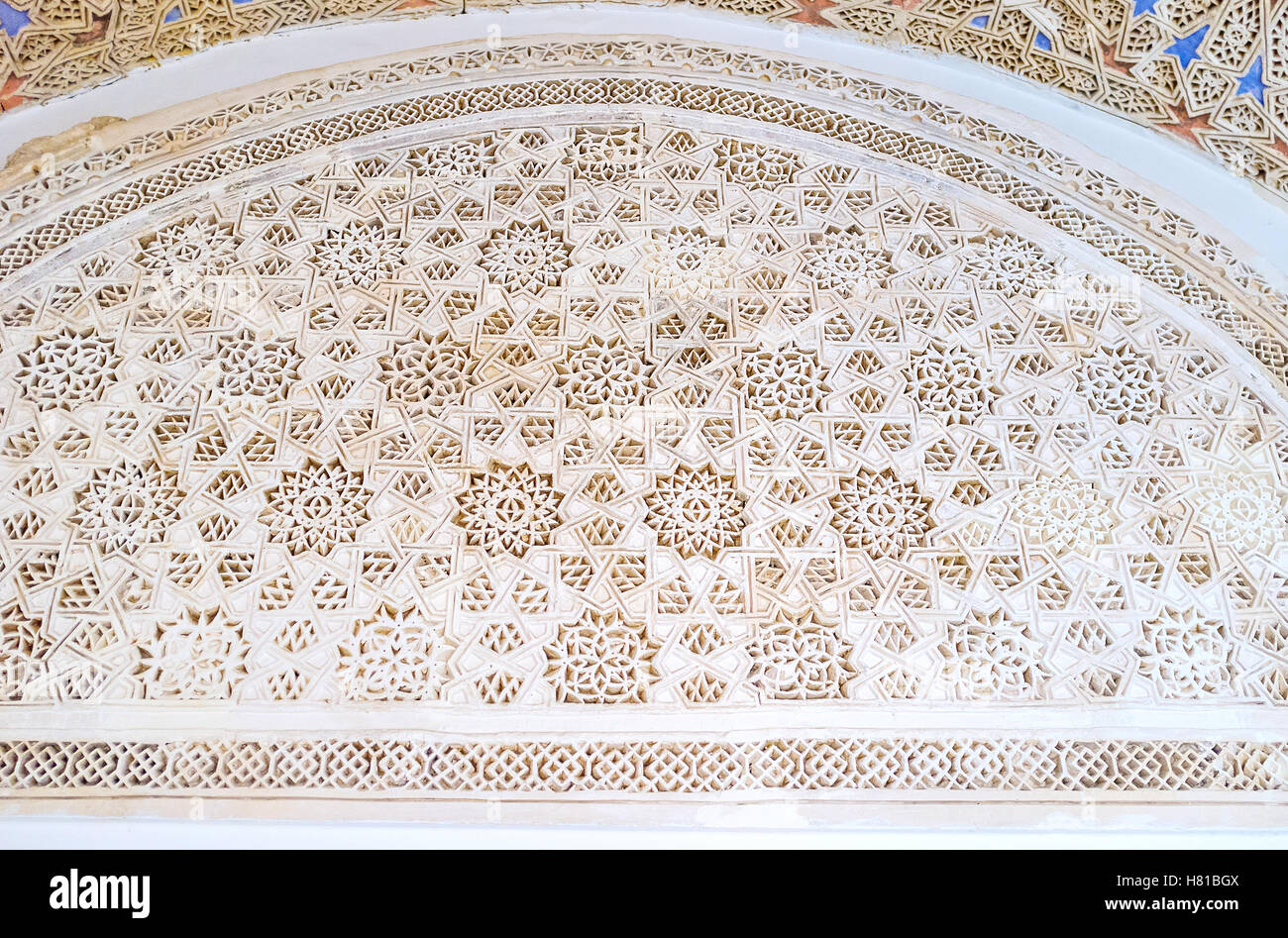 The Bardo National Museum occupies the medieval Hafsid Palace with preserved arabic interior decors, Tunis Stock Photo