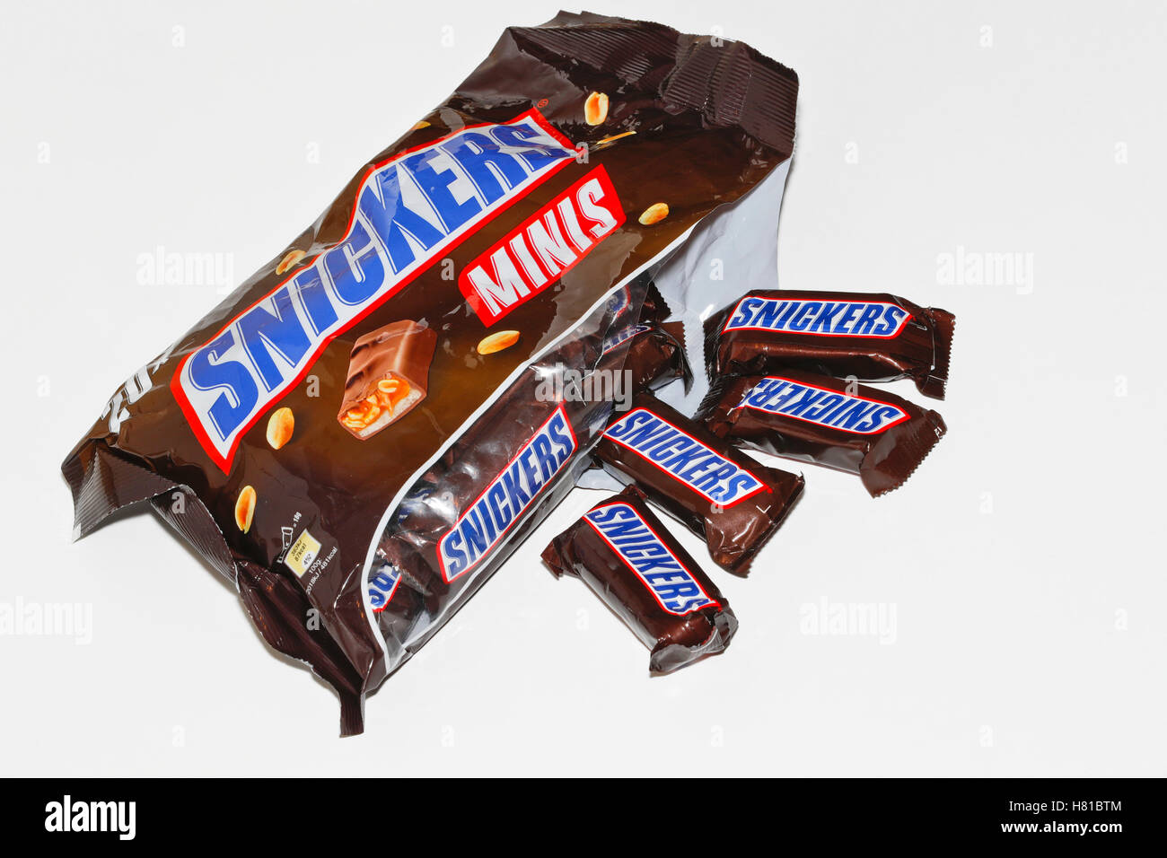 Package of mini Snickers - Stock Image