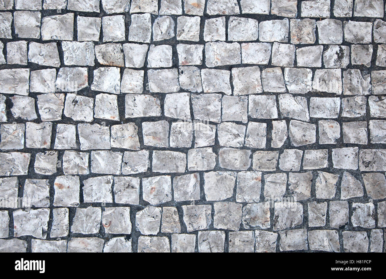 Cobblestone floor background - Stock Image