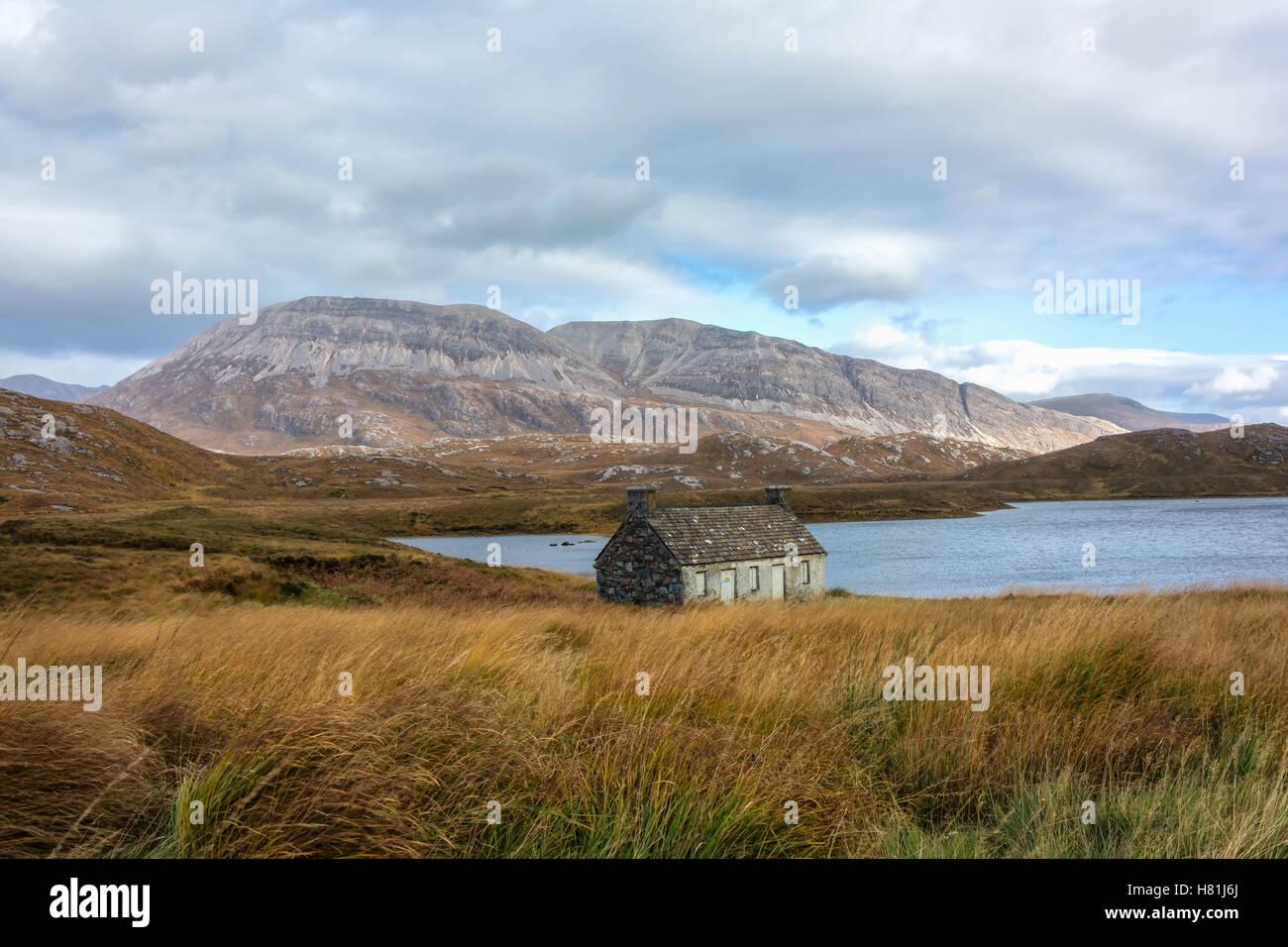Loch Stack and Ben Arkle, Sutherland, Scotland, United Kingdom Stock Photo