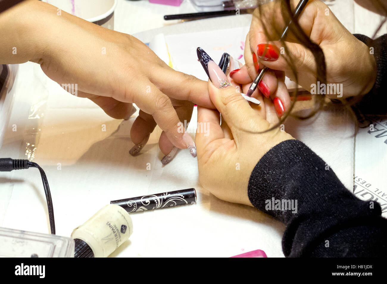 Hand Long Nails Isolated Stock Photos & Hand Long Nails Isolated ...