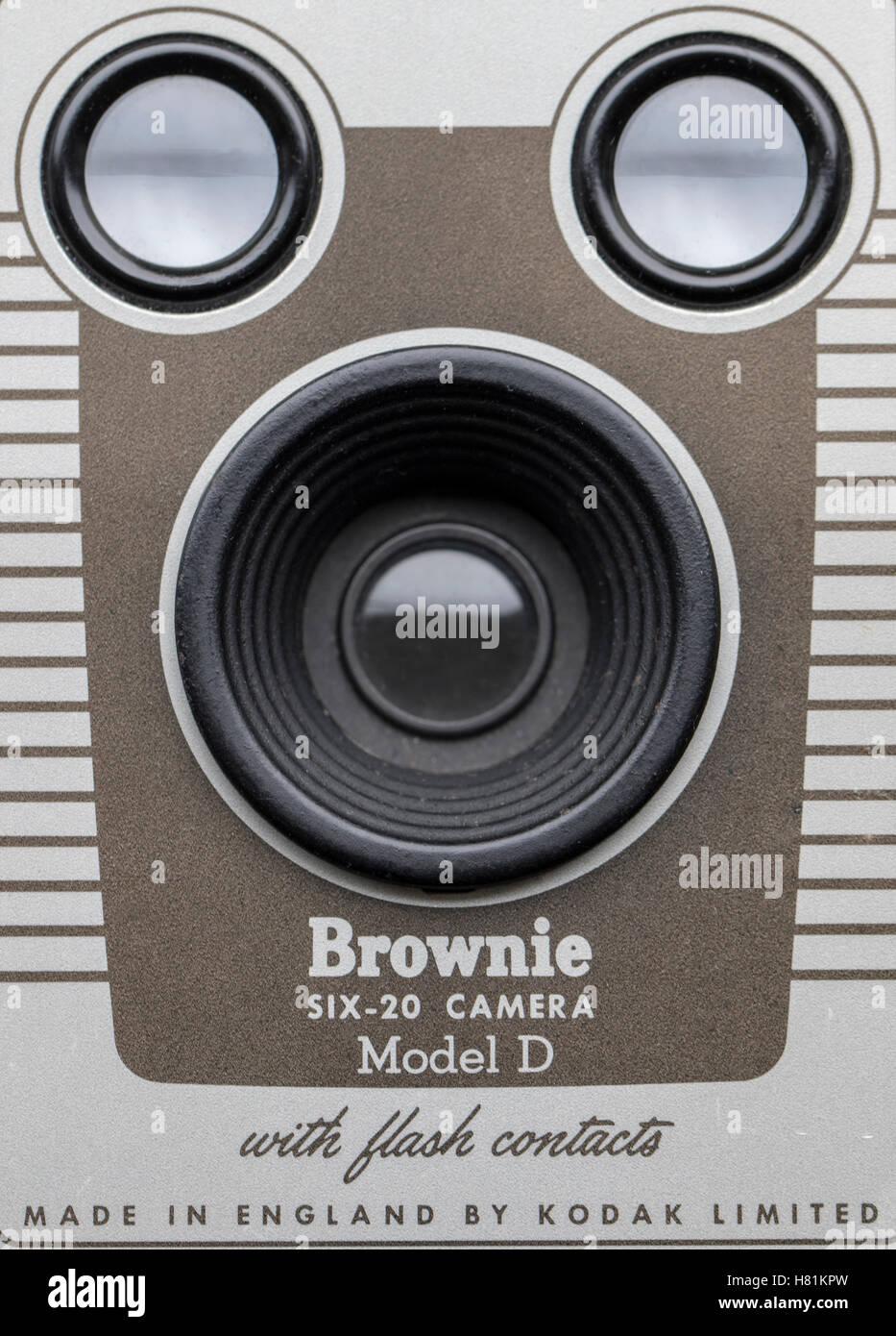 Front of Kodak Brownie 620 vintage camera - Stock Image