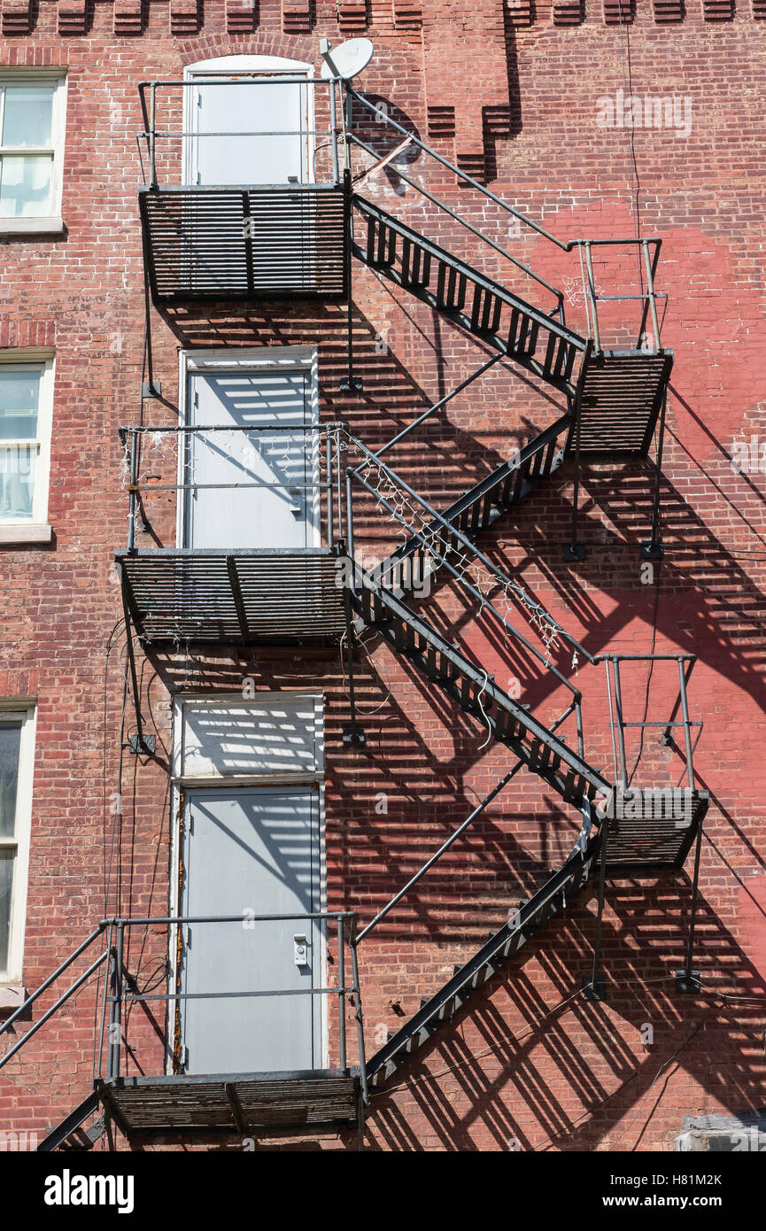 Attractive Apartment Building, With External Fire Escape Stairs, Philadelphia,  Pennsylvania, USA