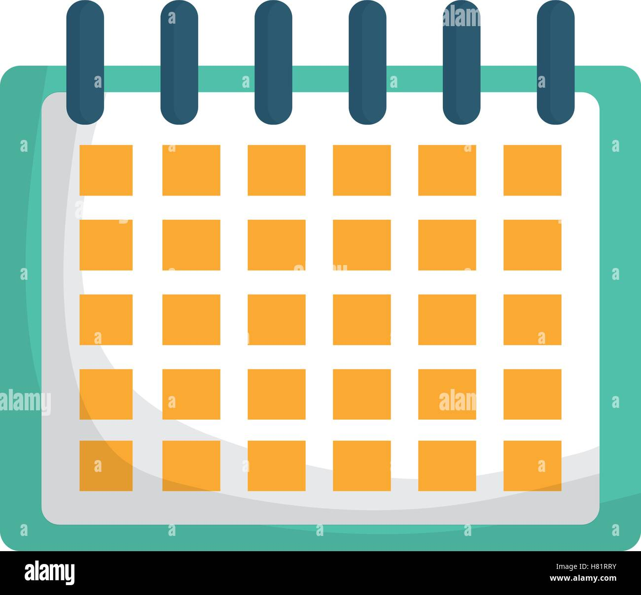calendar icon planner month date and time theme isolated design