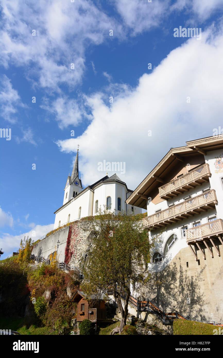 Kaprun: church, Pinzgau, Salzburg, Austria Stock Photo