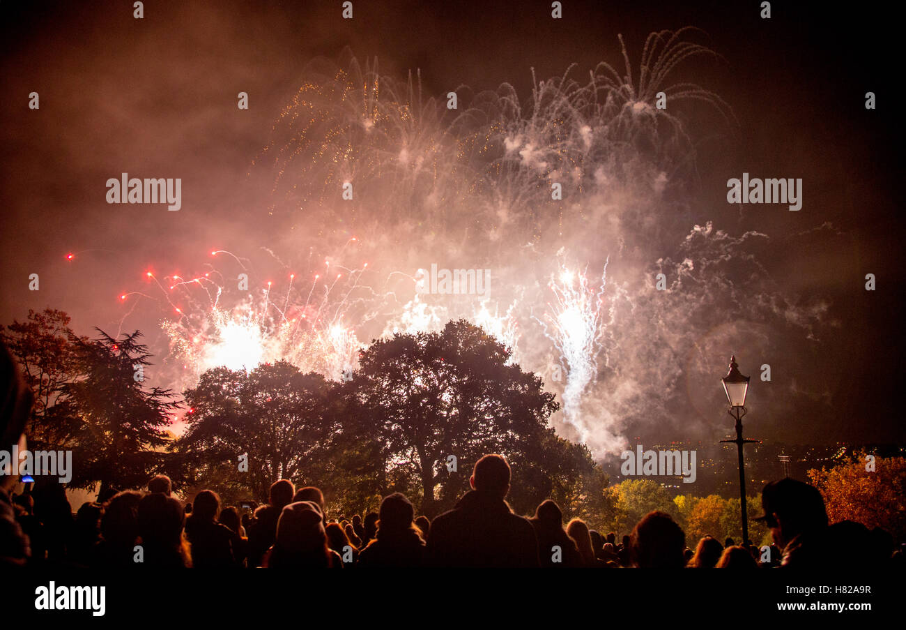 Alexander Palace On Guy Fawkes Night London UK - Stock Image