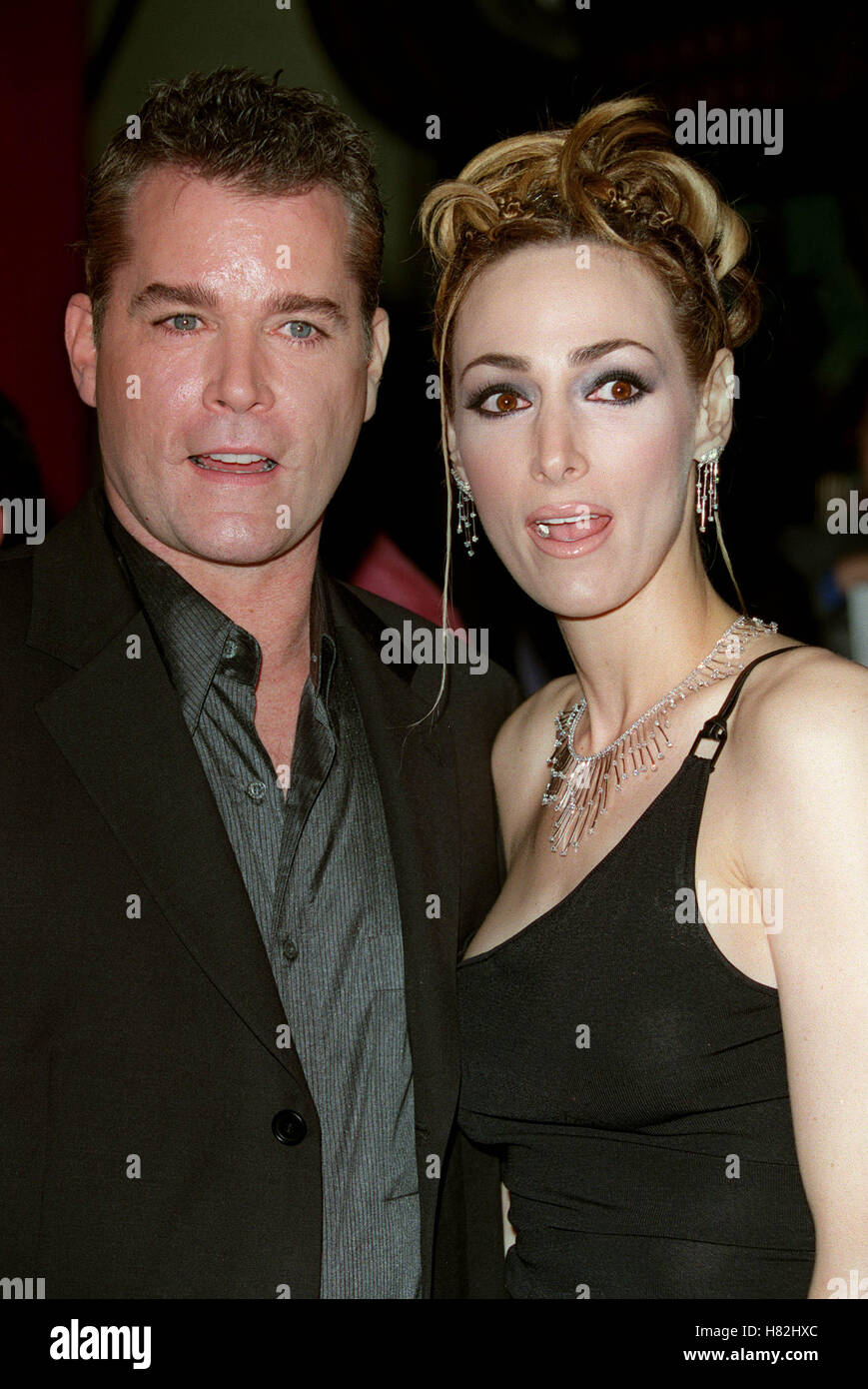 RAY LIOTTA & WIFE BLOW WORLD PREMIERE LOS ANGELES CHINESE ...