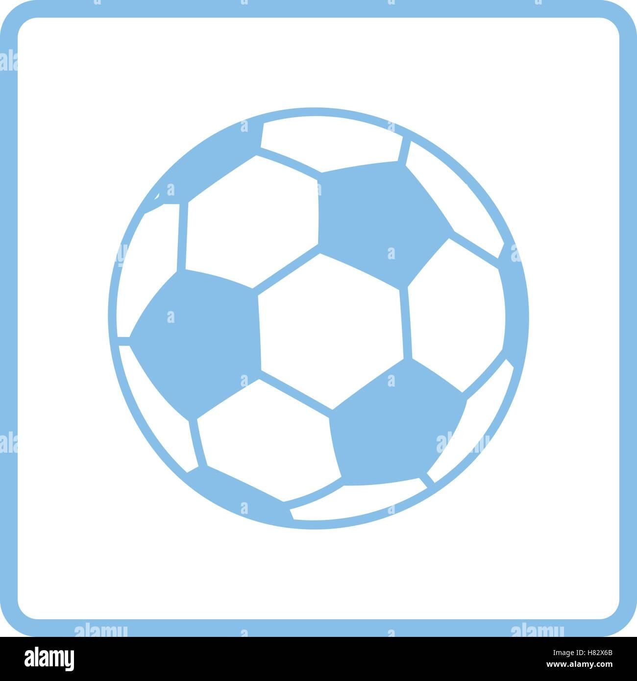 Soccer ball icon. Blue frame design. Vector illustration Stock ...