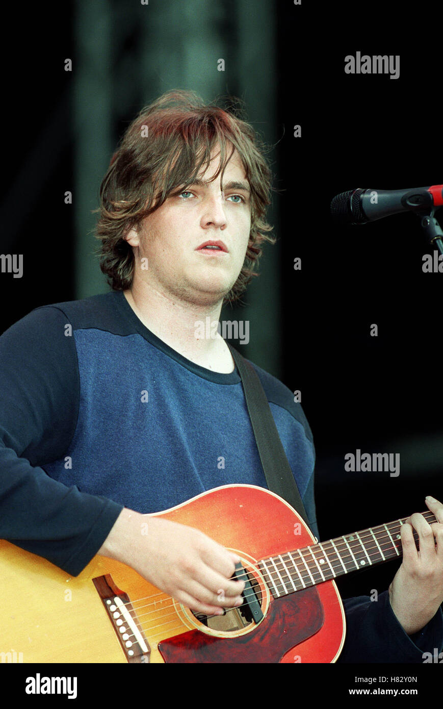JAMES WALSH T IN THE PARK KINROSS SCOTLAND 07 July 2001 - Stock Image