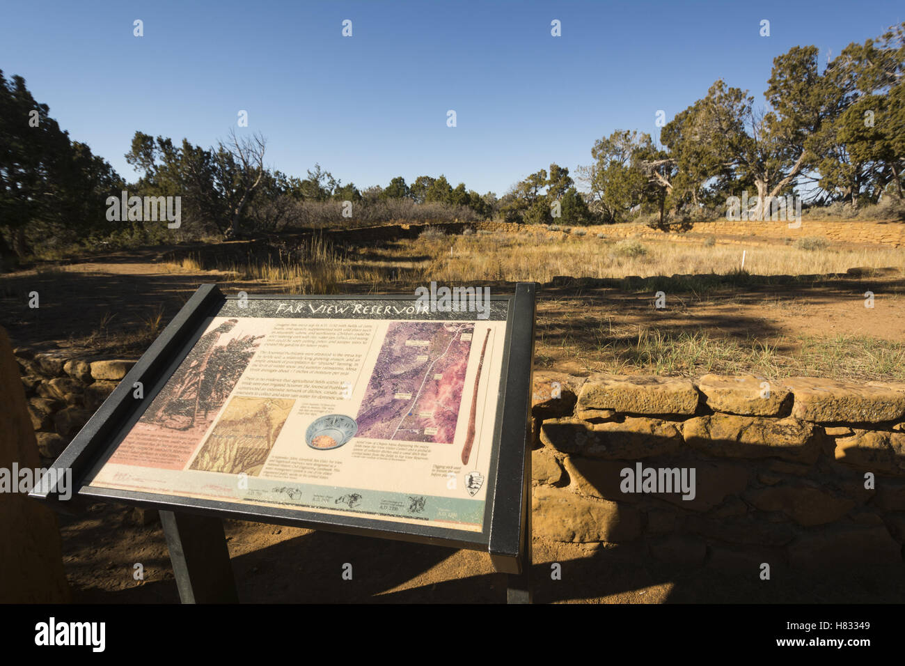 Colorado, Mesa Verde National Park, Far View ruins Stock Photo