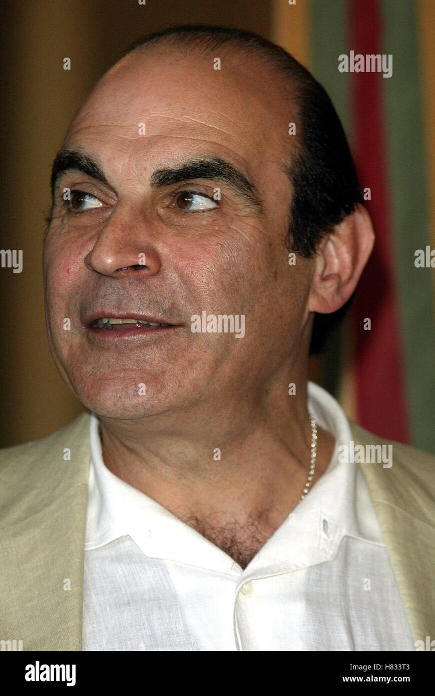 DAVID SUCHET CANNES FILM FESTIVAL 2002 CANNES FILM FESTIVAL CANNES FRANCE 21 May 2002 - Stock Image