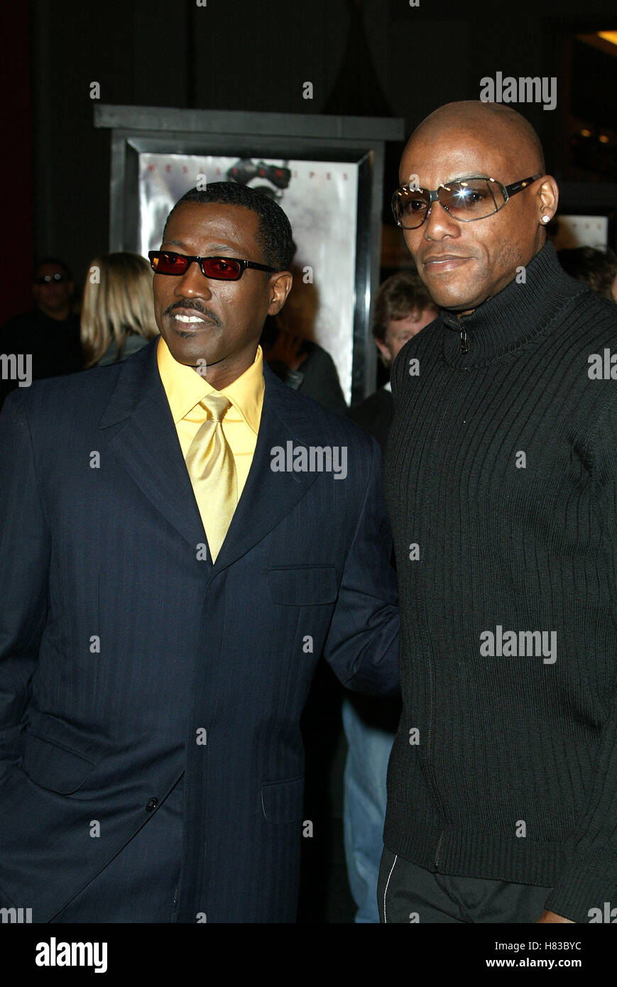 WESLEY SNIPES & CARL LEWIS BLADE 2 FILM PREMIERE MANN'S CHINESE THEATRE HOLLYWOOD USA 21 March 2002 - Stock Image