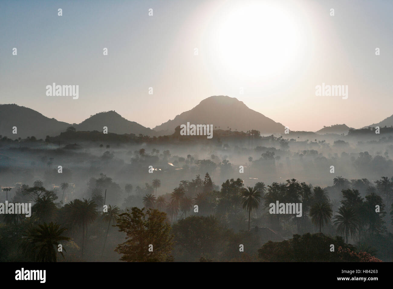Landscape from Mount Abu. Rajasthan, India. - Stock Image