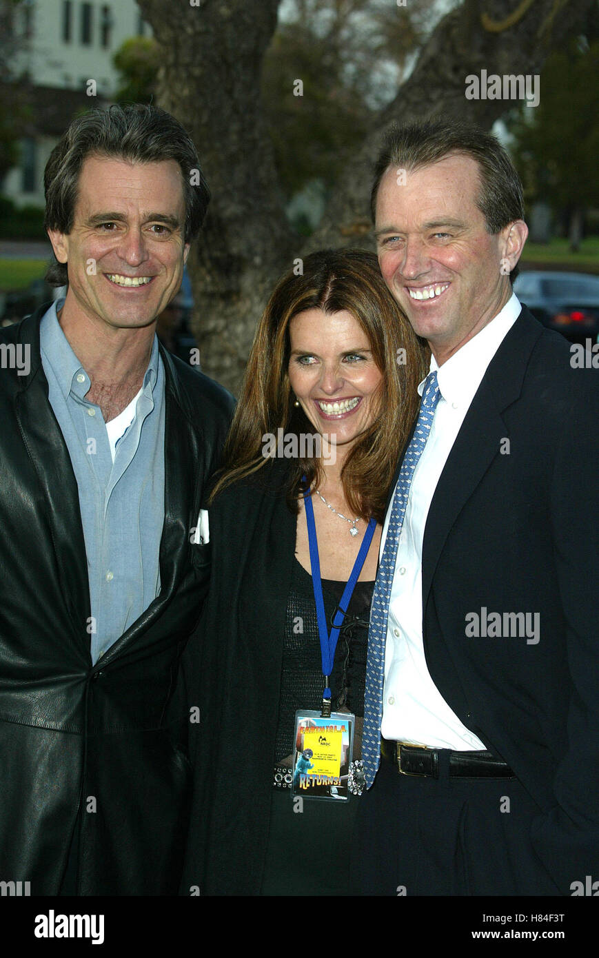 BOBBY & MARIA SHRIVER & RFK JR EARTH TO L.A. II! BENFEIT WADSWORTH THEATRE BRENTWOOD LOS ANGELES USA 10 - Stock Image