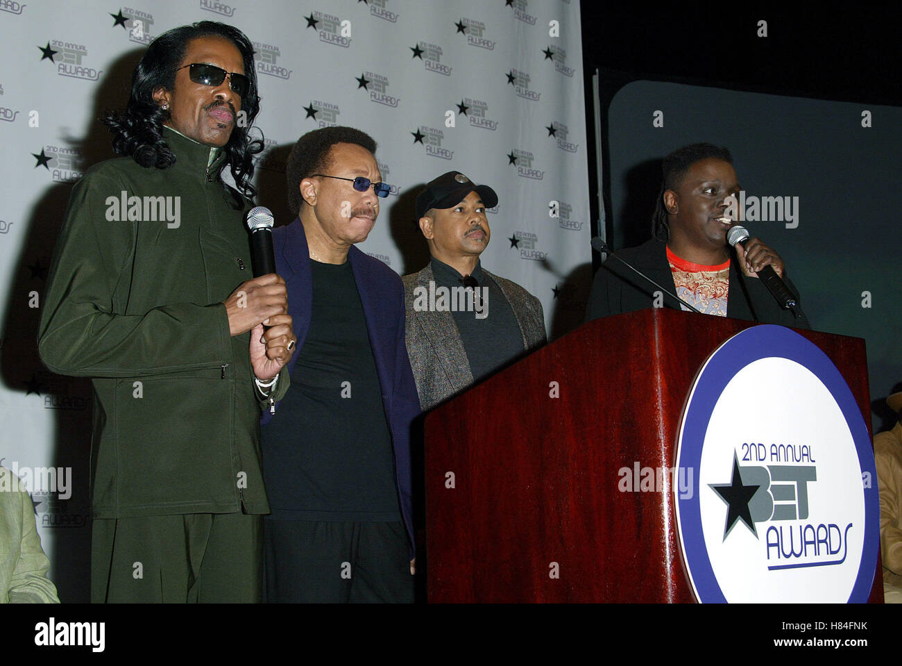 EARTH WIND & FIRE 2ND BET AWARDS NOMIMATIONS KODAK THEATRE HOLLYWOOD LOS ANGELES USA 14 May 2002 - Stock Image