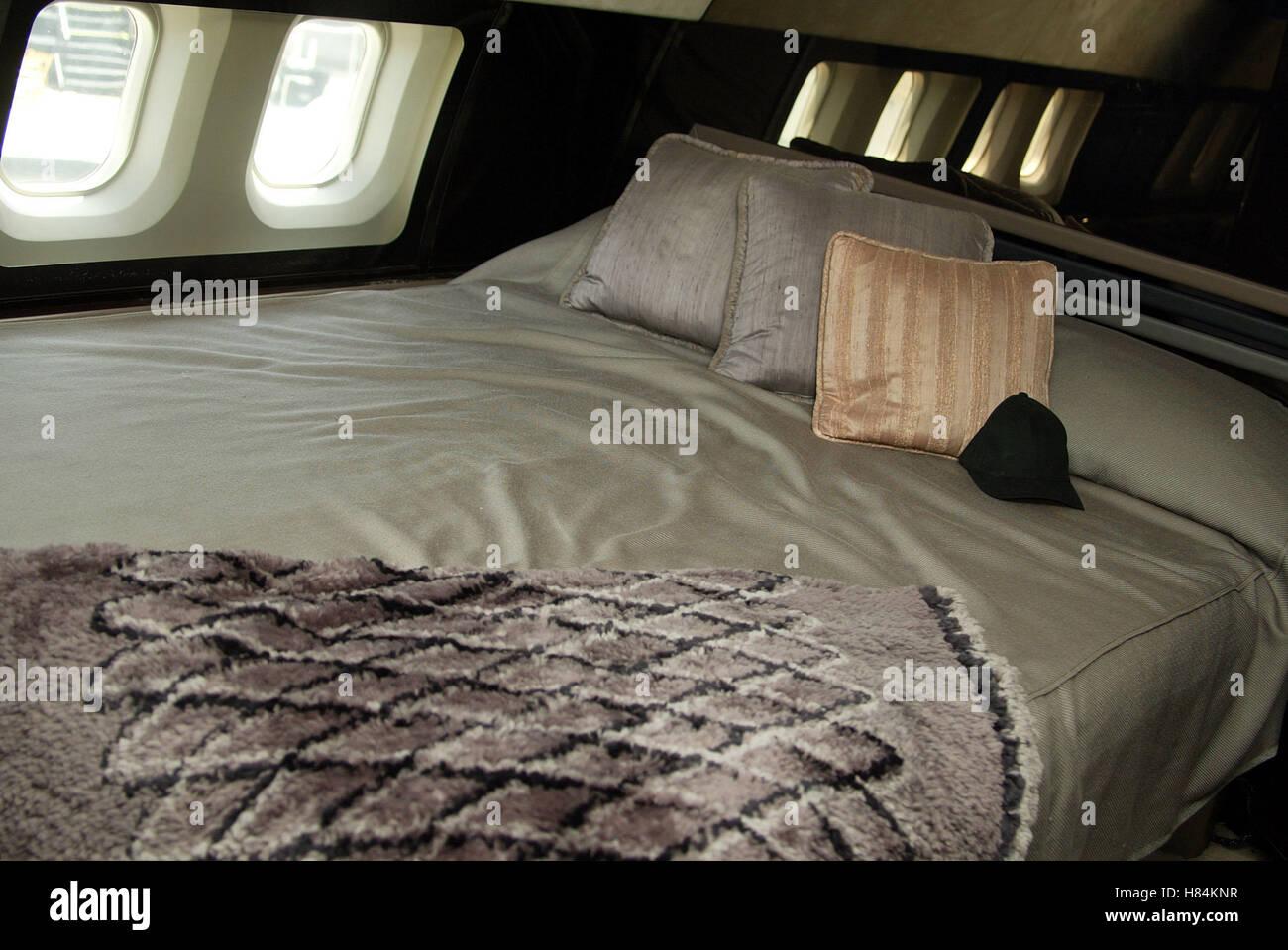 JOHN TRAVOLTA BED ON HIS JET QANTAS AMMASSADOR AT LARGE LOS ANGELES AIRPORT  [LAX]