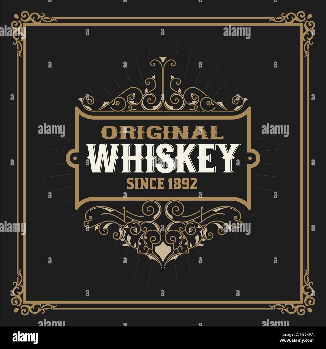 vintage whiskey label stock photos vintage whiskey label stock