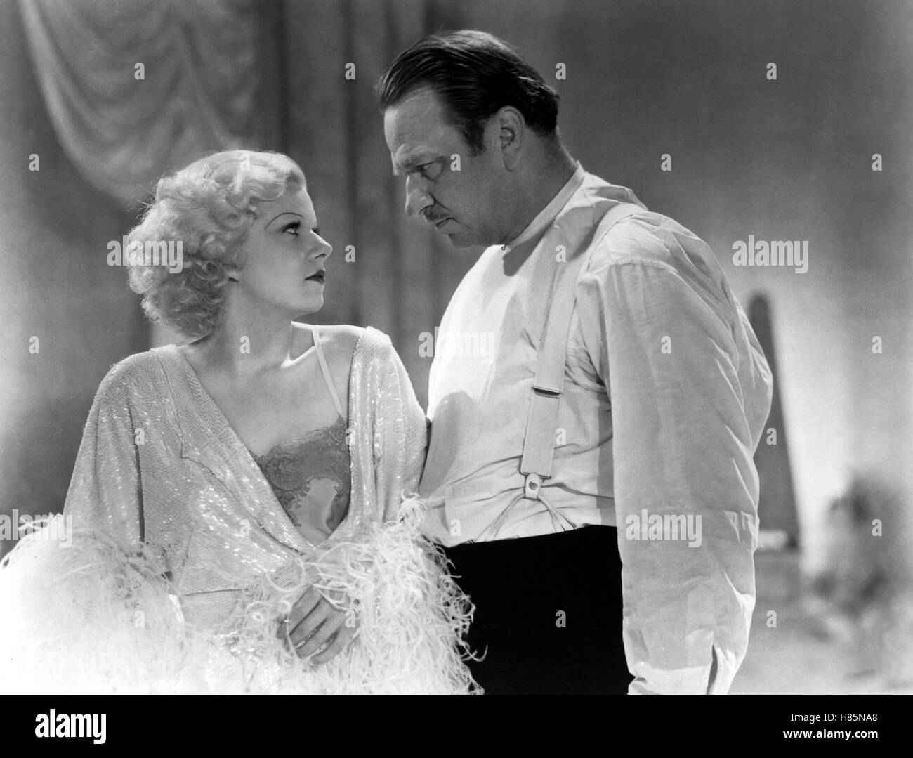 Dinner um Acht, (DINNER AT EIGHT) USA 1933 s/w, Regie: George Cukor, JEAN HARLOW, WALLACE BEERY - Stock Image