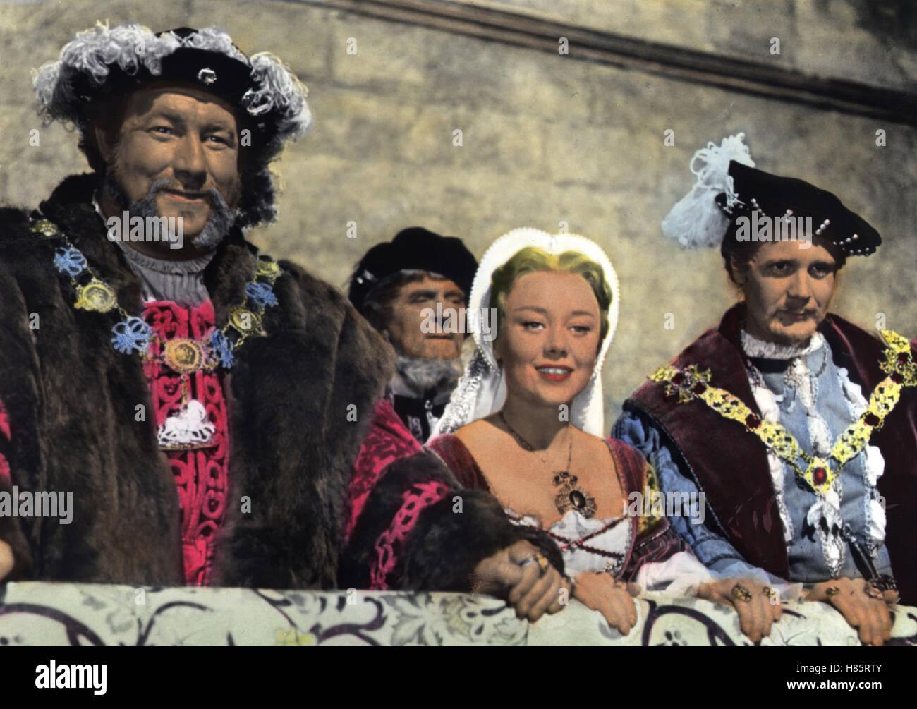 Eine Prinzessin verliebt sich, (THE SWORD AND THE ROSE) GB 1952, Regie: Ken Annakin, JAMES ROBERTSON JUSTICE, GLYNIS - Stock Image