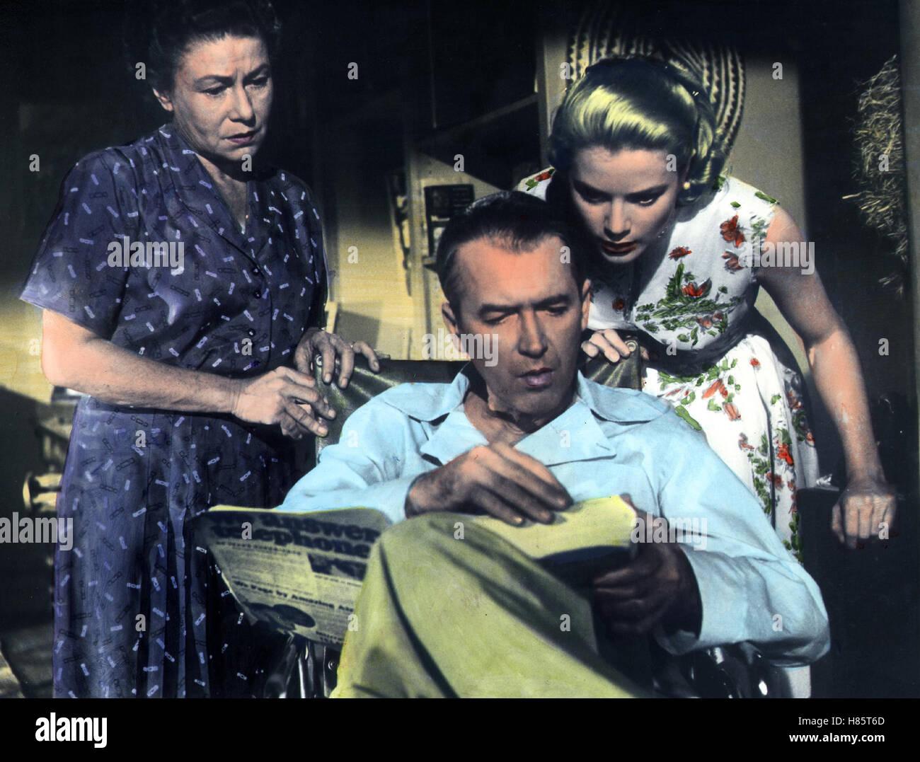 Das Fenster zum Hof, (REAR WINDOW) USA 1954, Regie: Alfred Hitchcock, THELMA RITTER, JAMES STEWART, GRACE KELLY - Stock Image