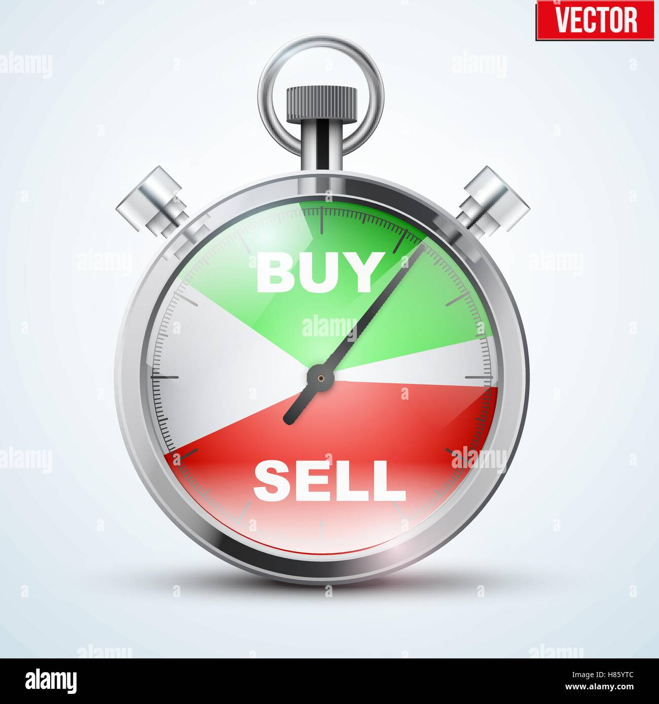 Stopwatch For Forex Trader Symbol Of Time To Trading Buy Or Sell