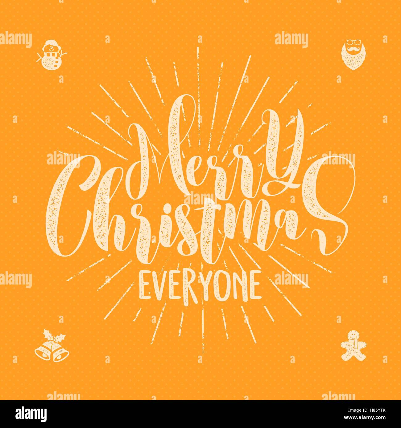 Merry christmas everyone lettering holiday wishe sayings and stock merry christmas everyone lettering holiday wishe sayings and vintage label seasons greetings calligraphy seasonal typography design m4hsunfo