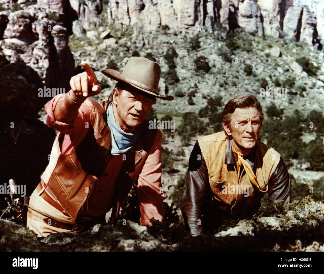 Die Gewaltigen, (THE WAR WAGON) USA 1966, Regie: Burt Kennedy, JOHN WAYNE + KIRK DOUGLAS - Stock Image