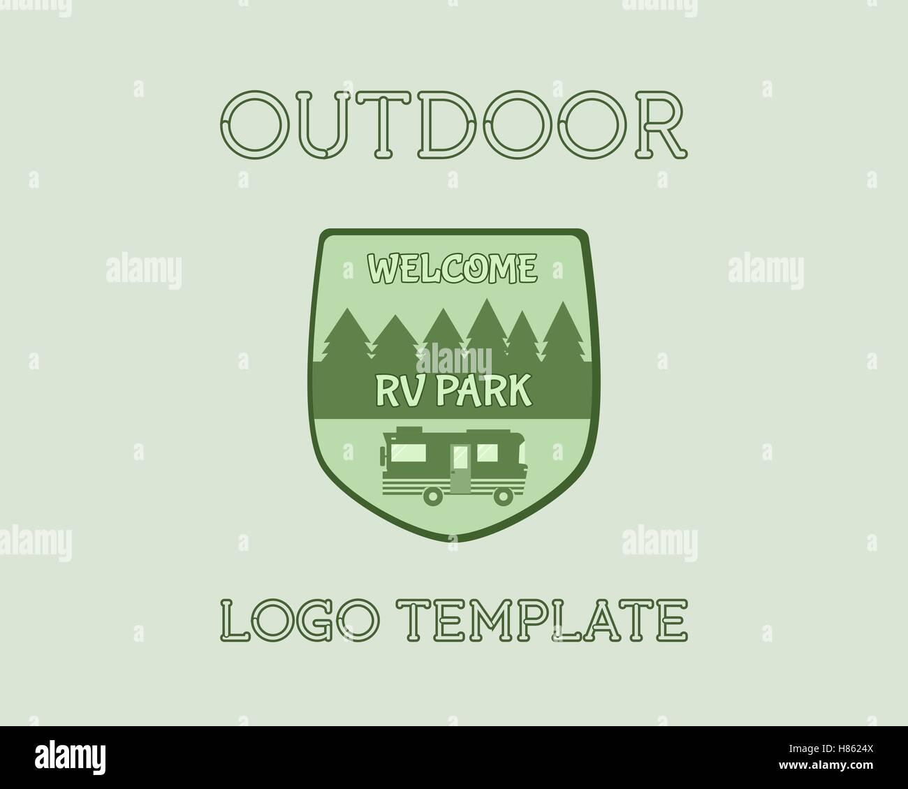 Adventure Outdoor Tourism Travel Logo Vintage Labels design