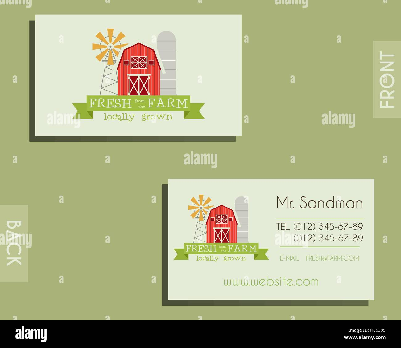 Eco organic visiting card template for natural shop farm products eco organic visiting card template for natural shop farm products and other bio organic business ecology theme eco design vector illustration colourmoves
