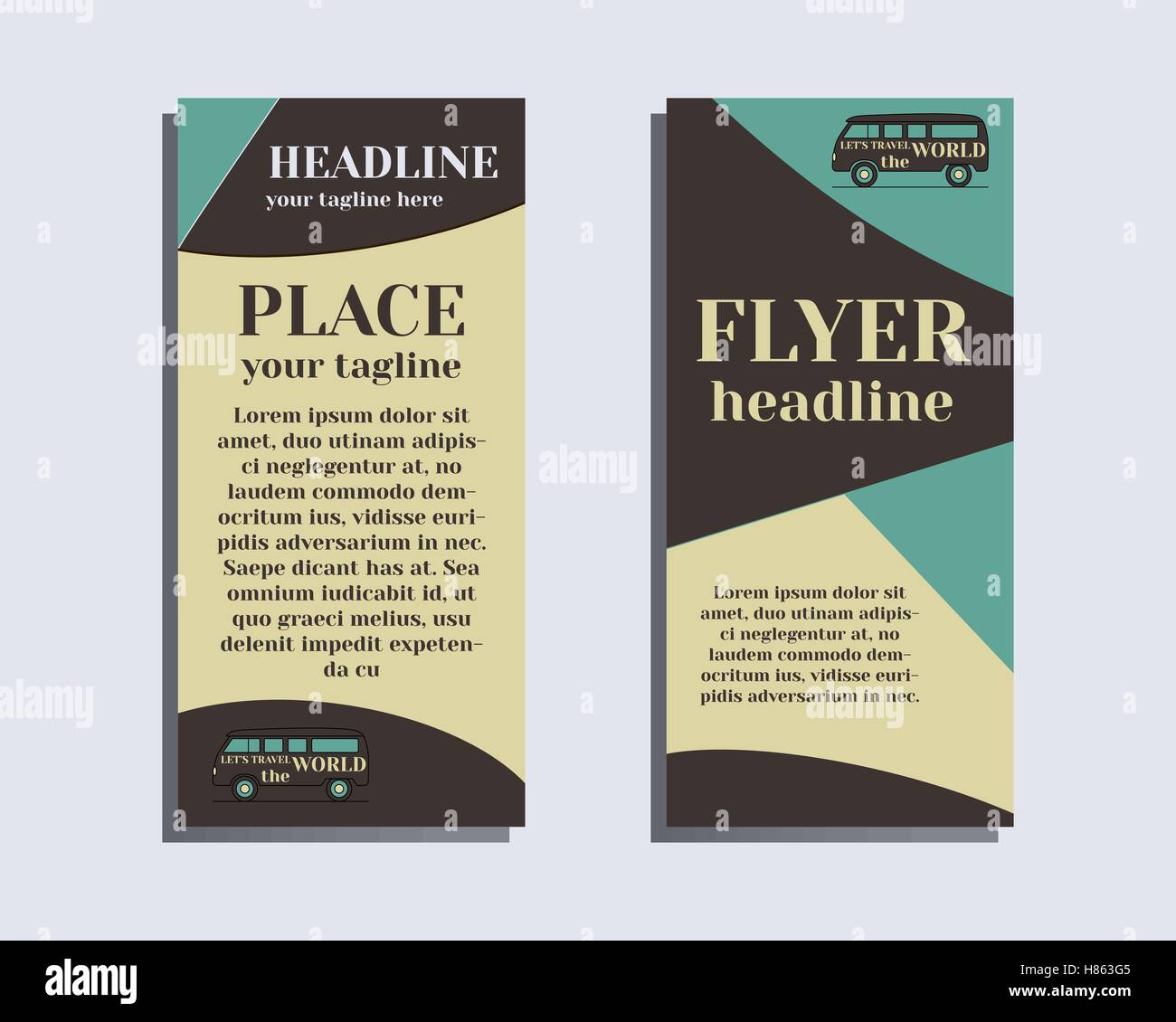 travel and camping brochure flyer design layout template rv park