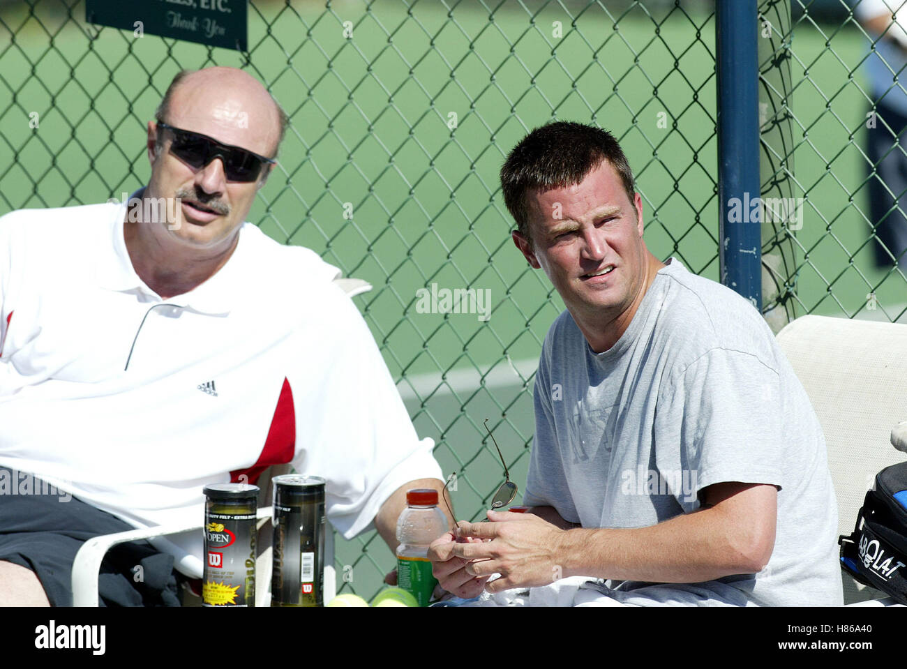 MATTHEW PERRY & DR PHIL MCGRAW 1ST CELEBRITY TENNIS CLASSIC