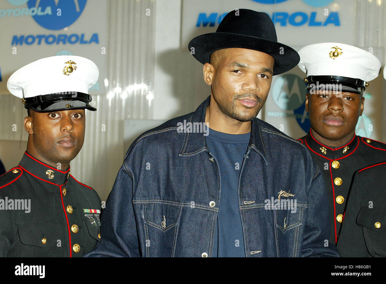 RUN DMC & US MARINES MOTOROLA HOILDAY PARTY 2002 HOLLYWOOD LOS ANGELES USA 05 December 2002 - Stock Image