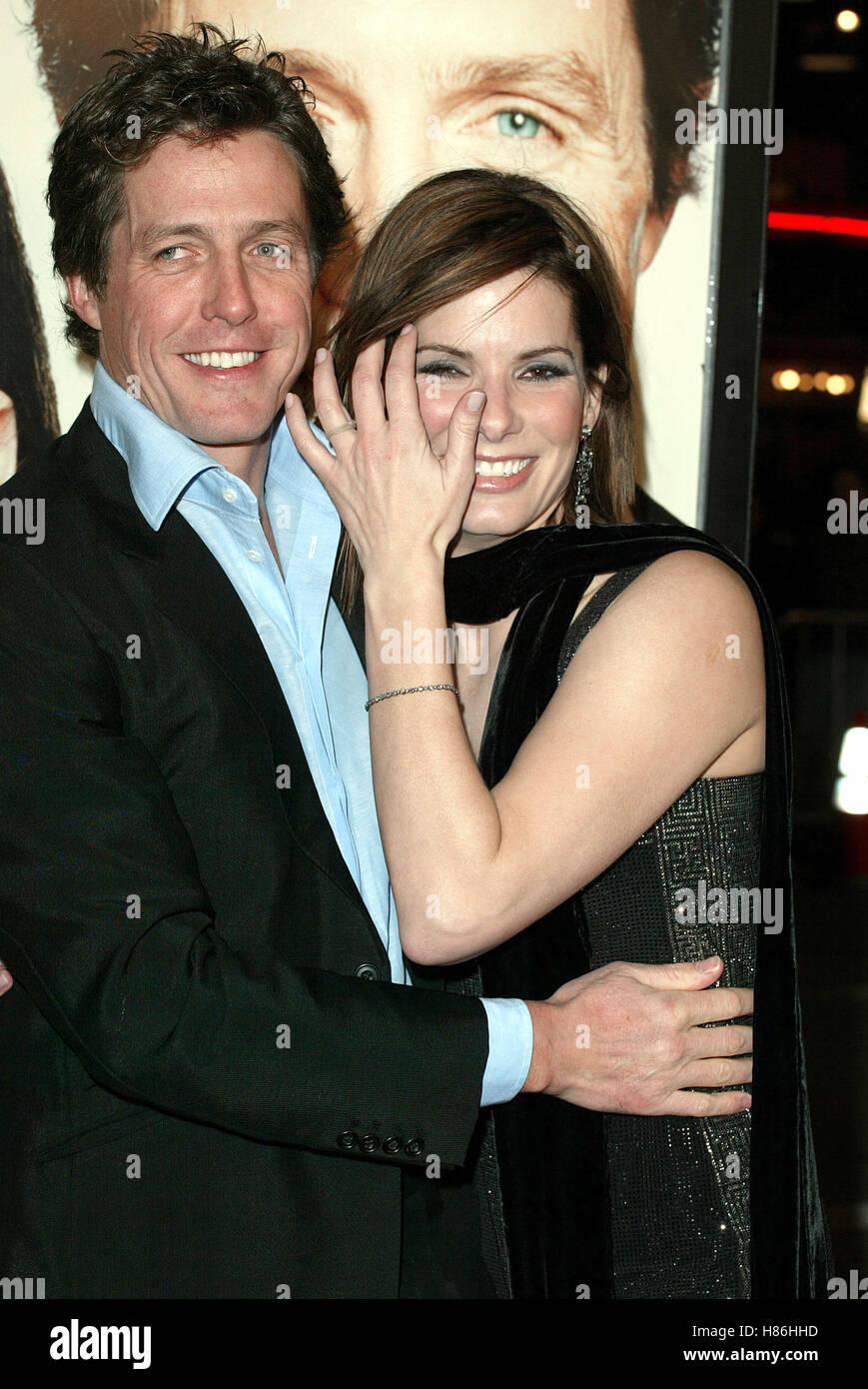 Hugh Grant Sandra Bullock Two Weeks Notice La Premiere Westwood Los Stock Photo Alamy