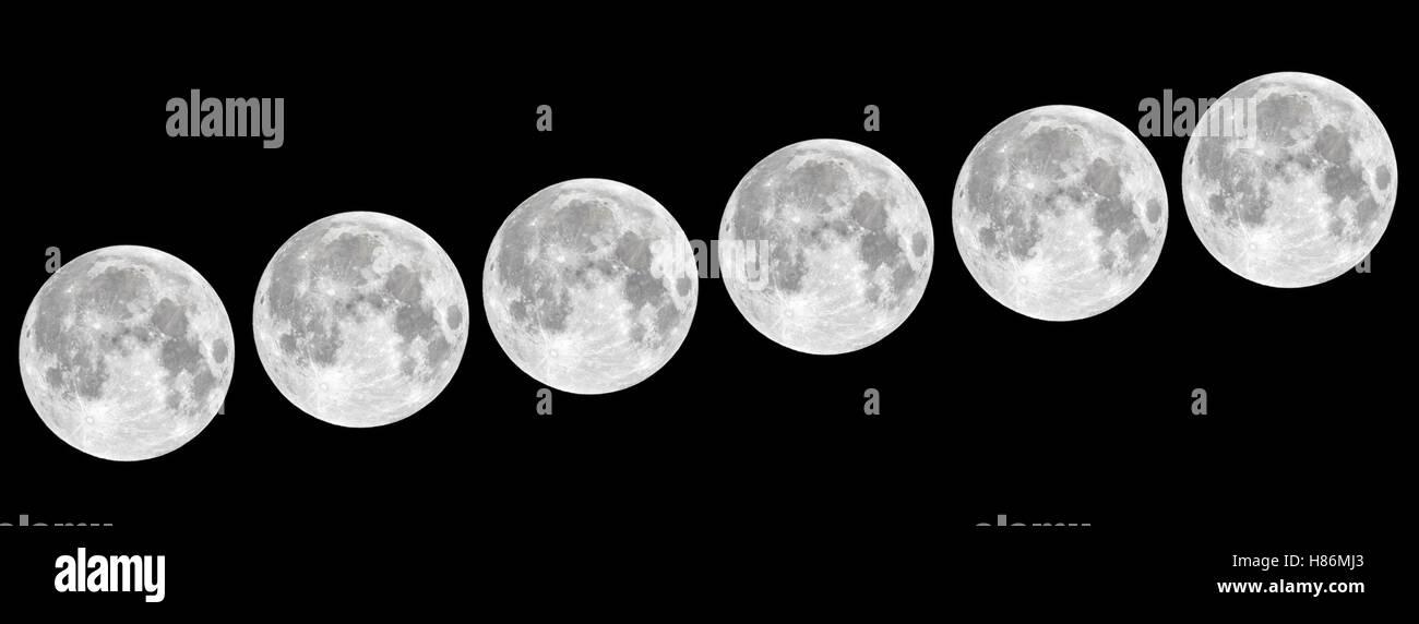 Huge Moon - Stock Image