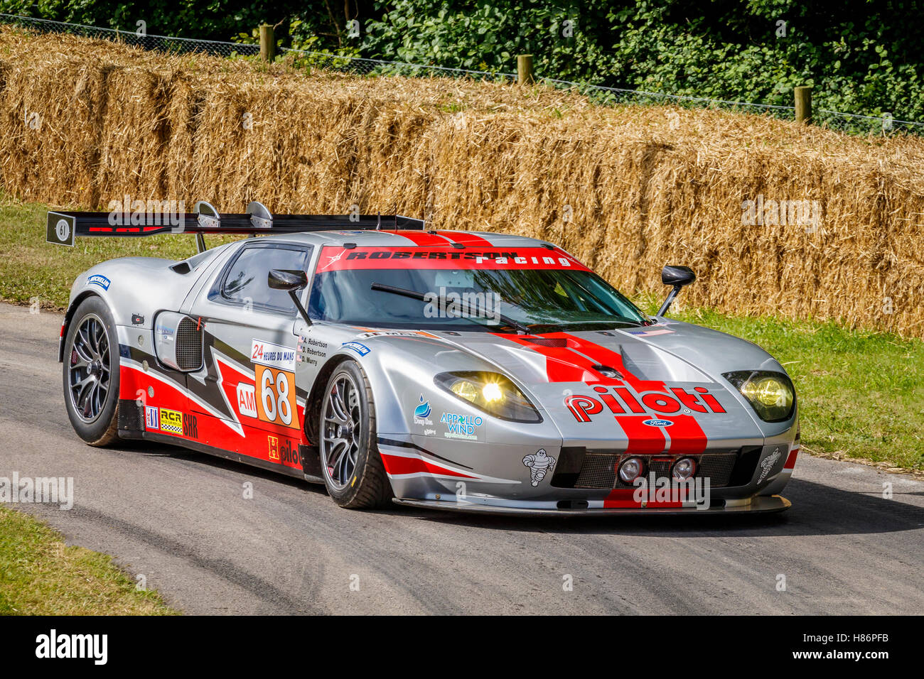 Ford Gt Lm Gte With Driver Andrea Robertson At The  Goodwood Festival Of Speed Sus Uk