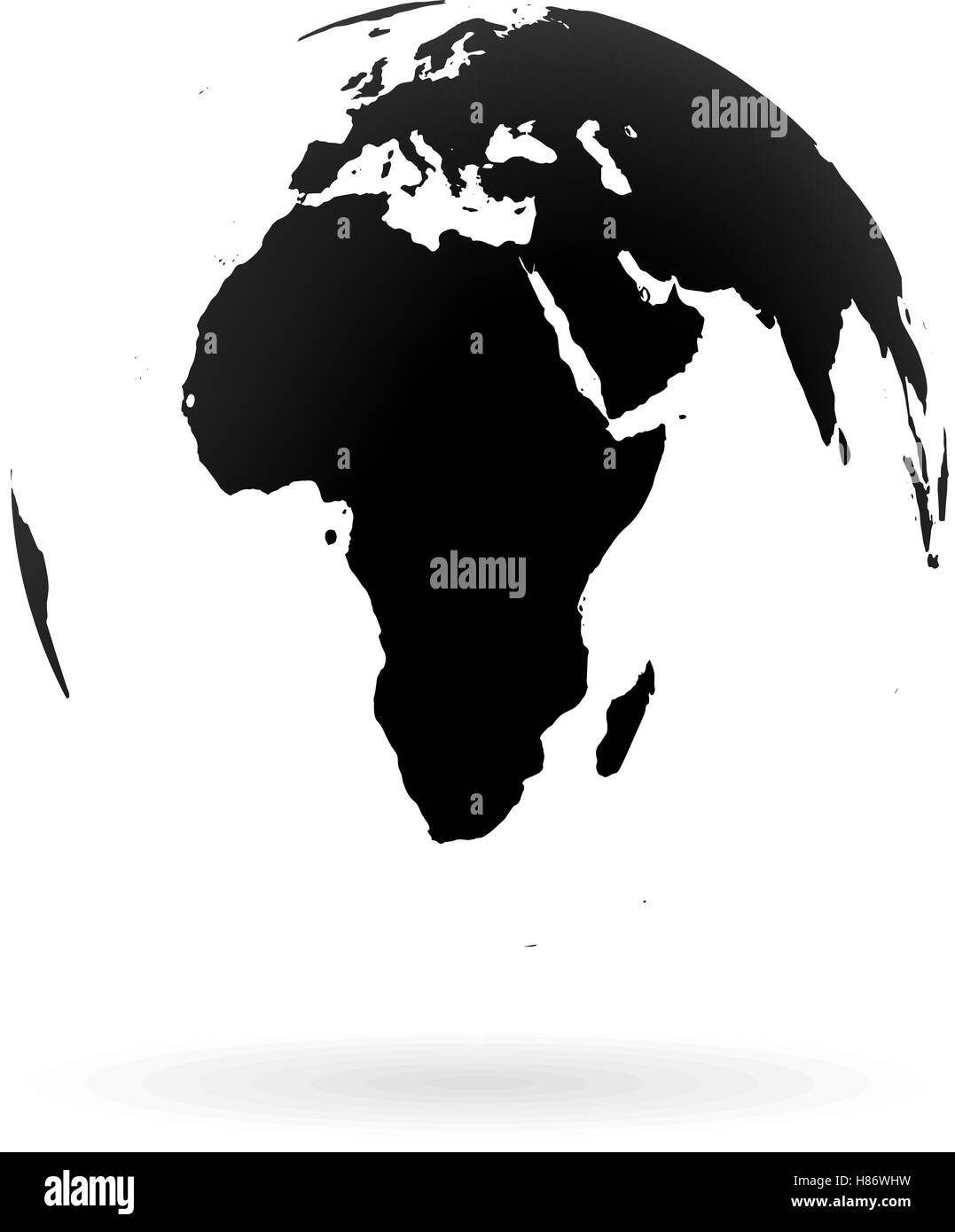 Picture of: Highly Detailed Earth Globe Symbol Africa And Middle East Black On Stock Vector Image Art Alamy