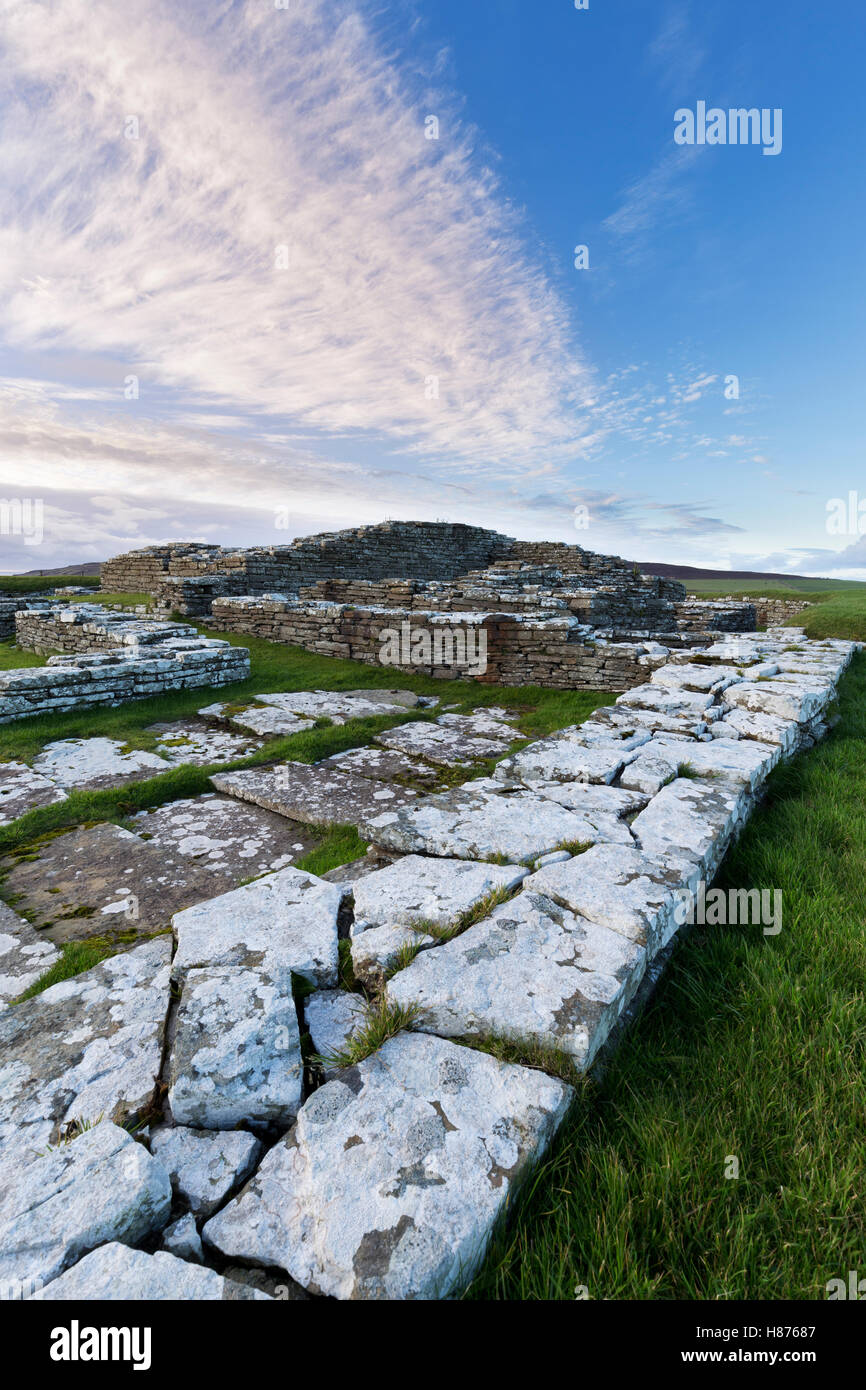 Remains of Norse castle, Orkney - Stock Image