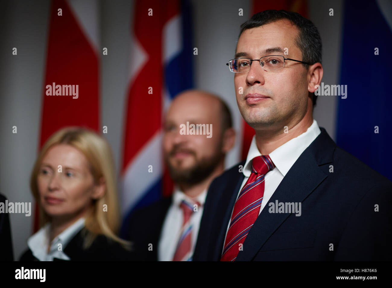 Confident good-looking politician - Stock Image