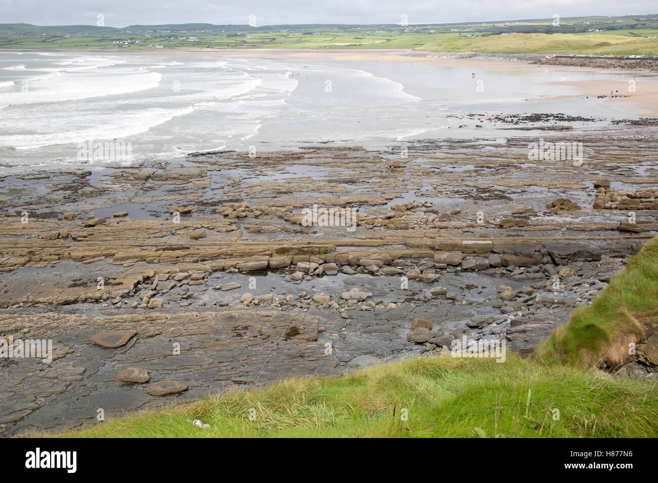 Lahinch Beach, Clare, Ireland, - Stock Image