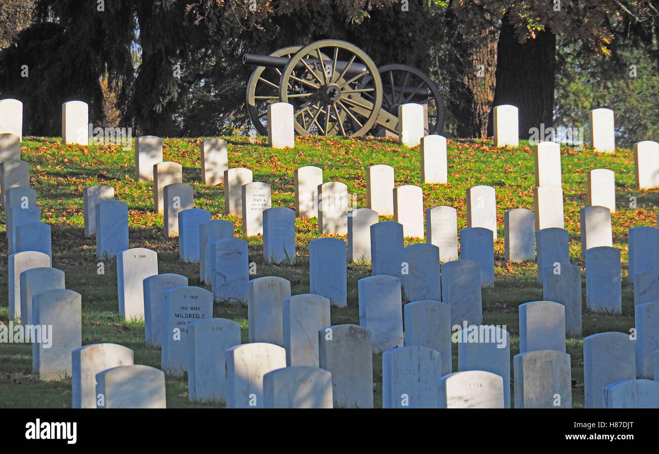 Soldiers National Cemetery at Gettysburg National Military Park. - Stock Image