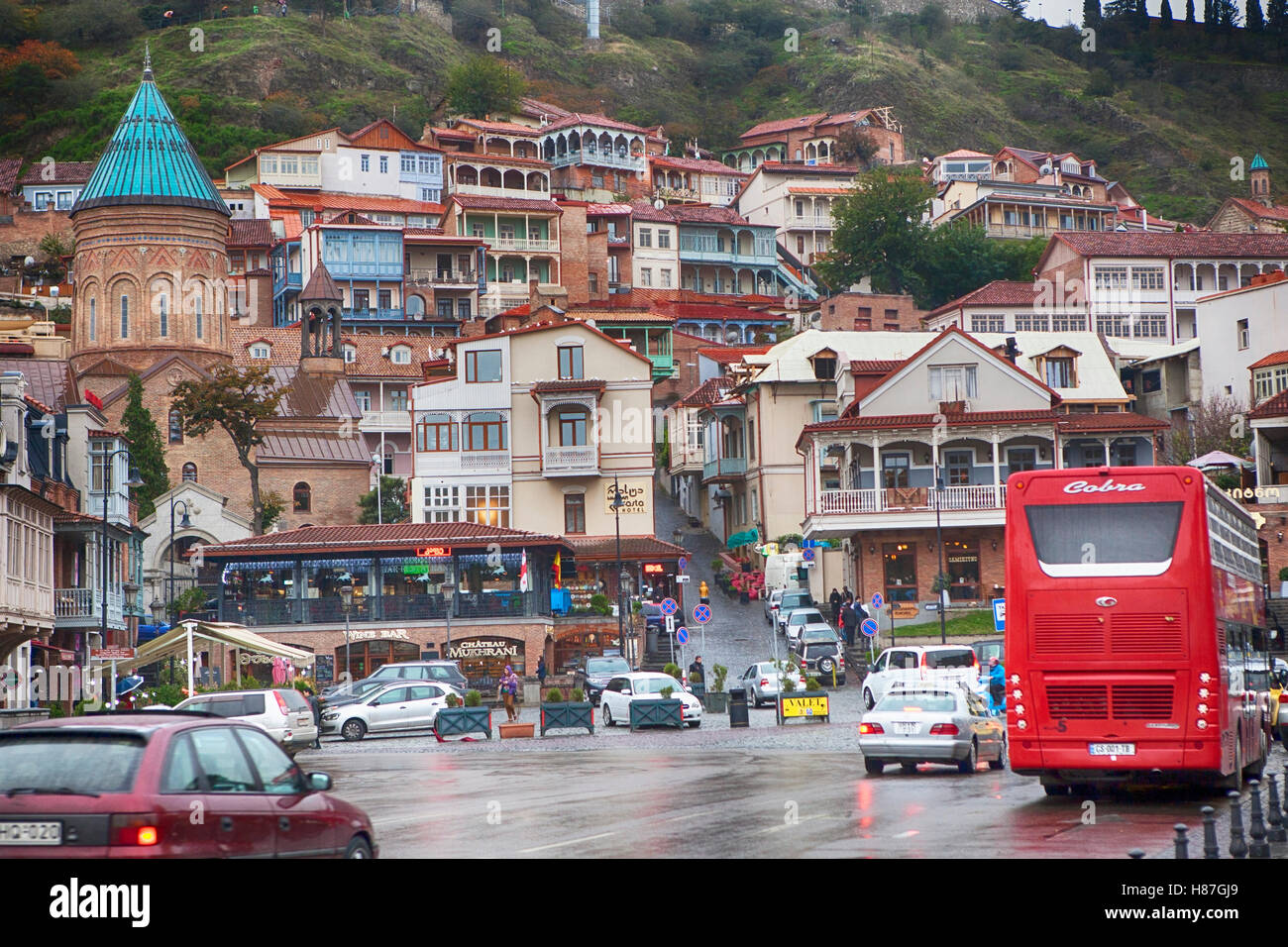 TBILISI, GEORGIA, 16 AUGUST, 2016: View of Tbilisi Old town Sololaki Stock Photo