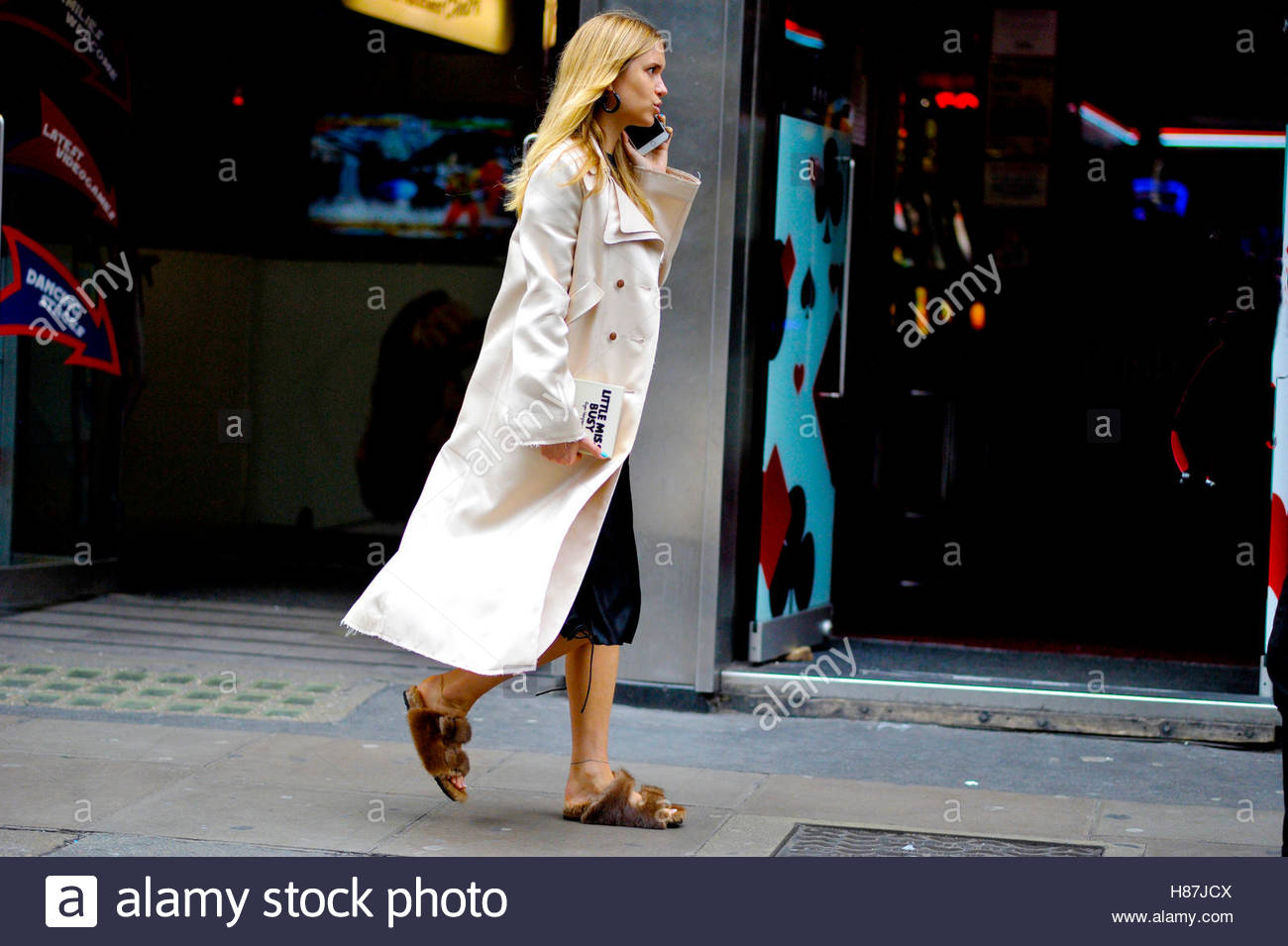 Pernille Teisbaek, Wardour Street London Fashion Week SS17 FW16 Street Style September 18 2016. - Stock Image