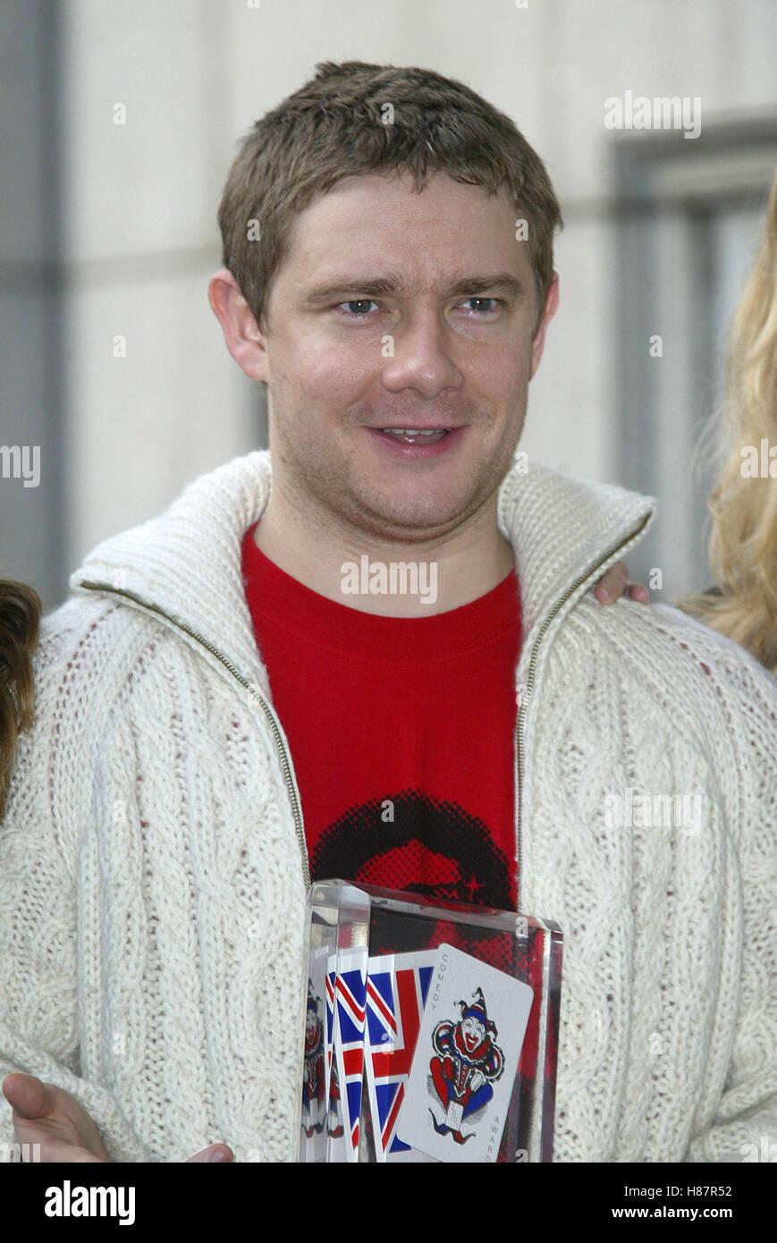 MARTIN FREEMAN COMEDY AWARDS NOMINEES 2003 SAVOY HOTEL LONDON ENGLAND 12 November 2003 - Stock Image