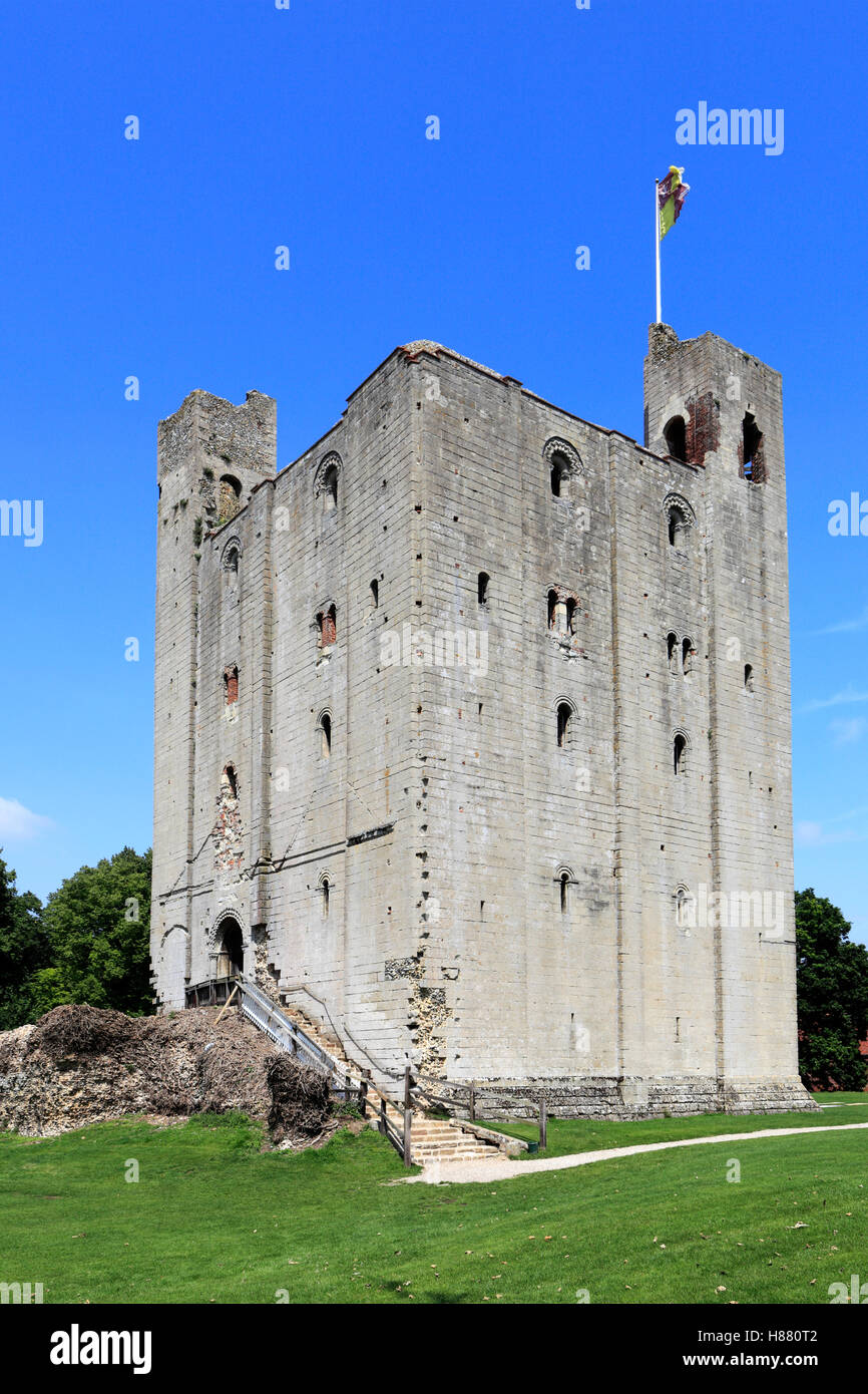 Hedingham Castle in the village of Castle Hedingham, Essex county, England, UK - Stock Image