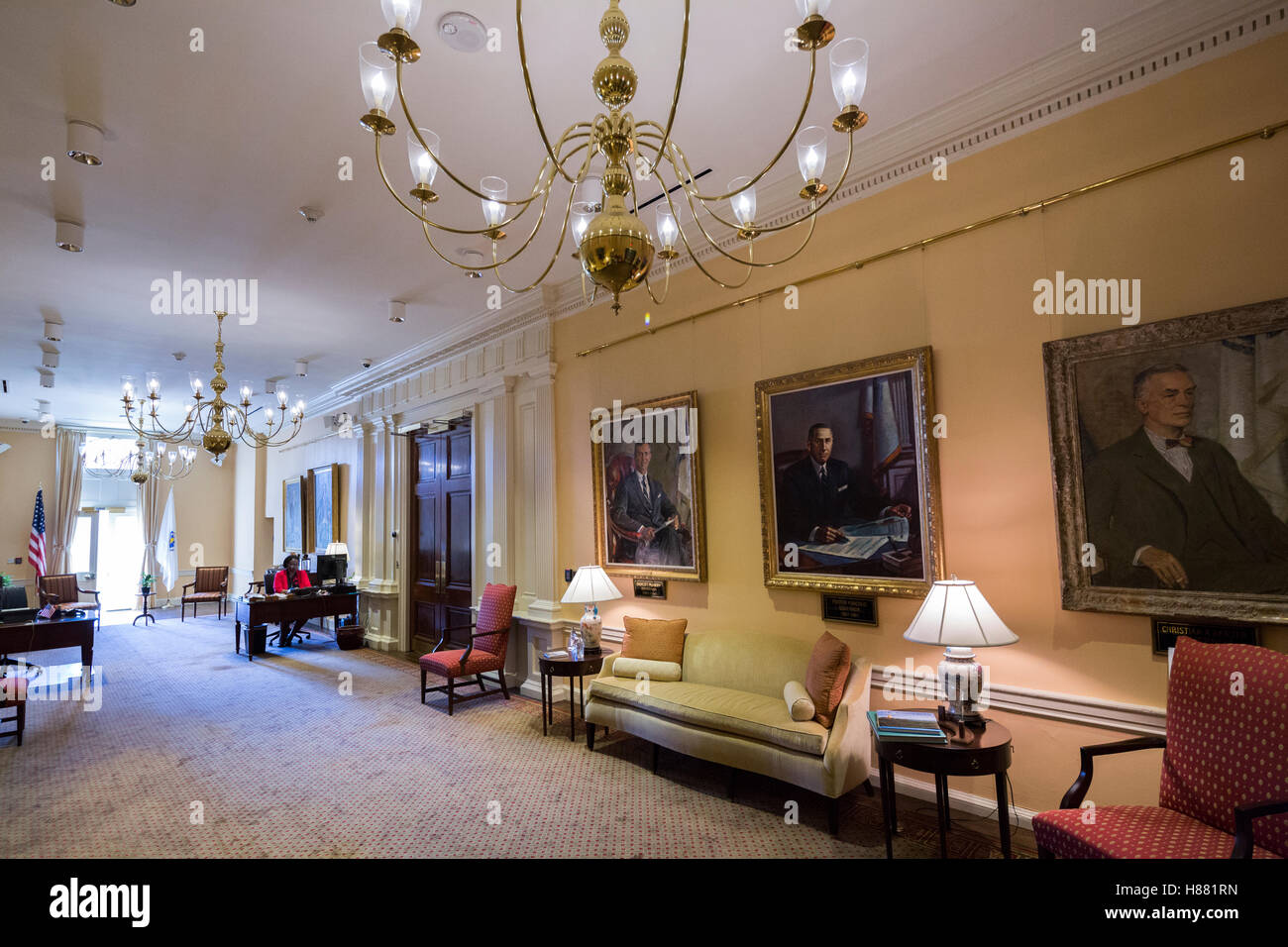 Massachusetts State House Executive Offices, Boston, Massachusetts, USA - Stock Image