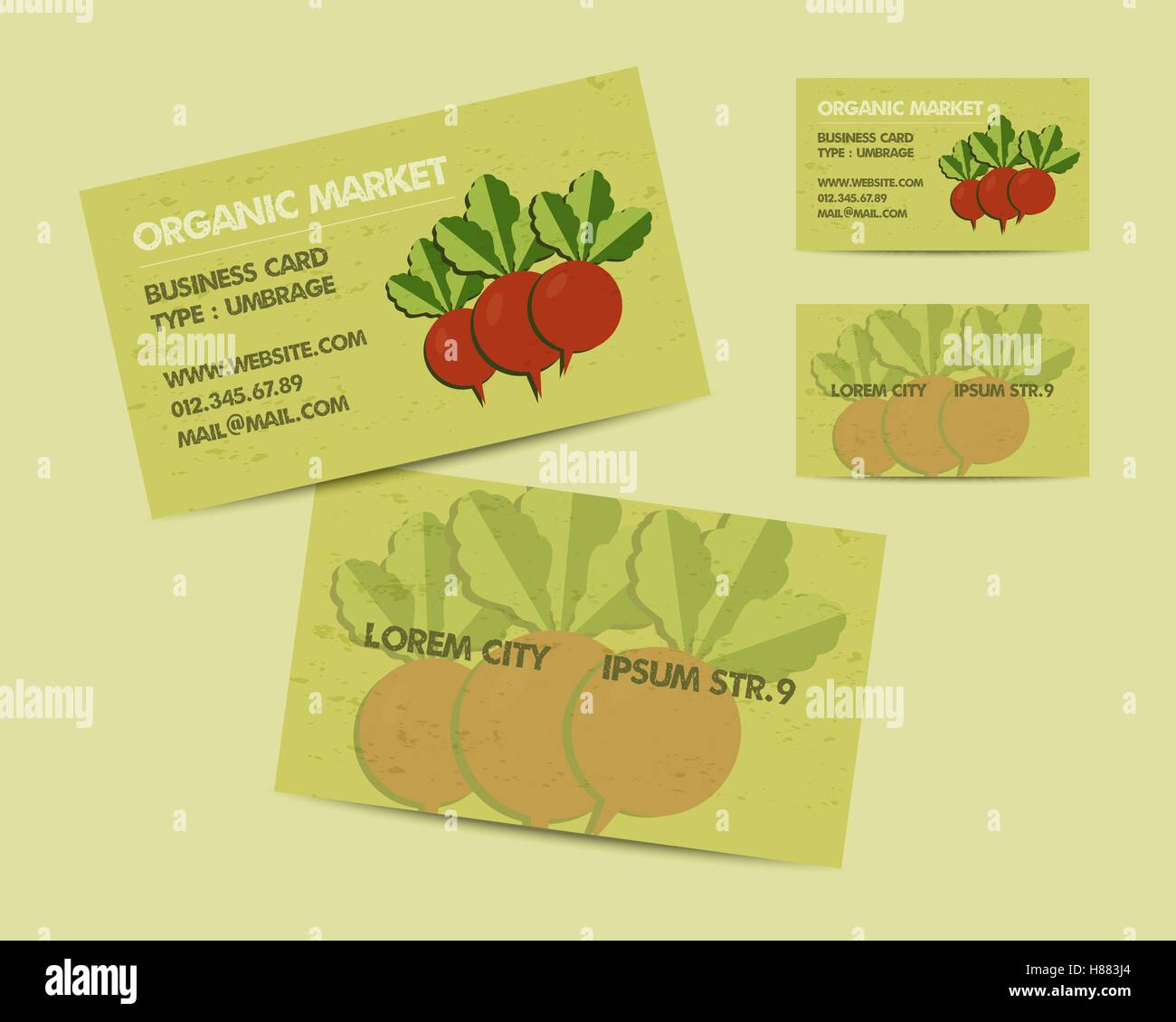 Summer Farm Fresh branding identity elements. Business card template ...