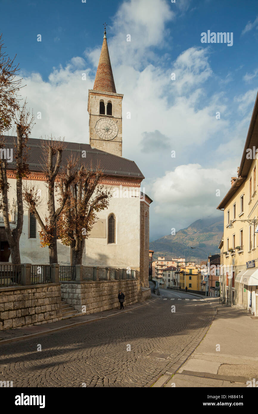 Saint Stefano church in Belluno old town, Italy. - Stock Image